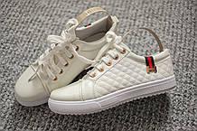 Женские брендовые кроссовки лак White Italy 36-41