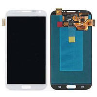 Дисплейный модуль для телефона Samsung I317, Note 2 N7100, N7105 Note 2, T889 в сборе с тачскрином белый