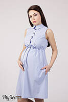 Платье-рубашка для беременных и кормления POLLY DR-28.022, светло-голубое в полоску 1, фото 1