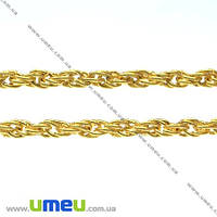 Цепь, Золото, 3 мм, 1 м (ZEP-007777)