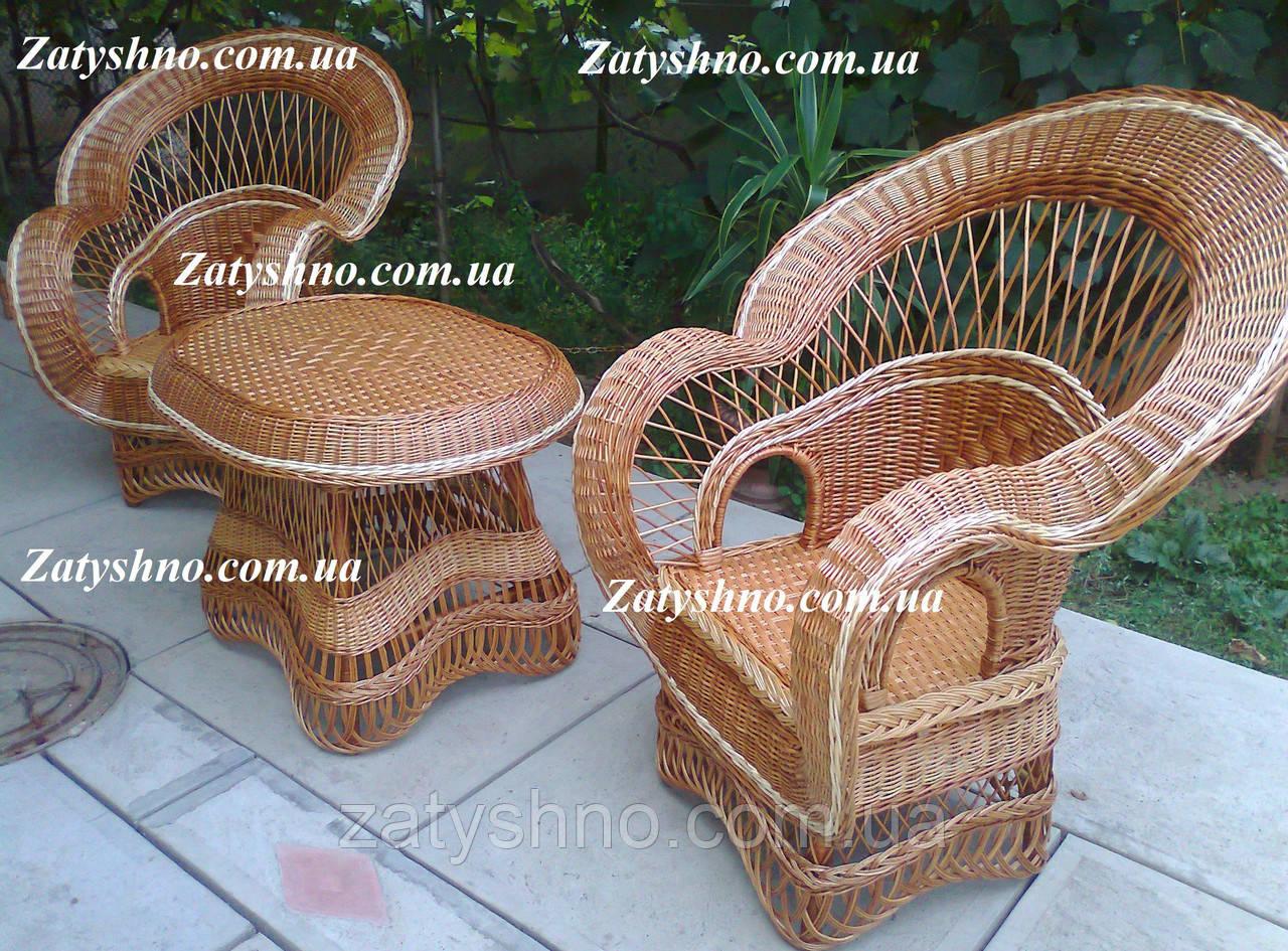 Кухонная плетеная мебель из лозы