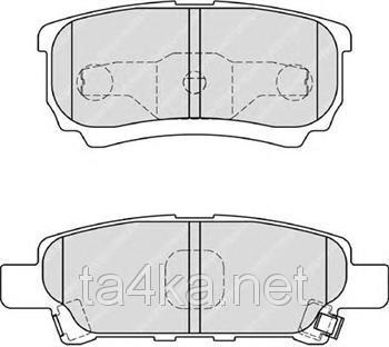 Тормозные колодки задние Mitsubishi Lancer