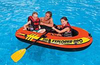 Полутораместная надувная лодка Intex 58357 + насос + весла