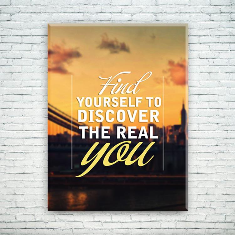 """Мотивирующий постер/картина """"Find yourself"""""""