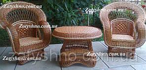 Садовая плетеная мебель из лозы