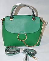 Сумка-клатч весенняя коллекция в зелёном цвете.