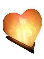 Соляная лампа Сердце 4-5 кг.Белая,Цветная лампочка