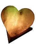 Соляная лампа Сердце 4-5 кг.Белая,Цветная лампочка, фото 2