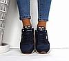 Кроссовки женские синие Reebok Classic текстиль реплика, фото 3