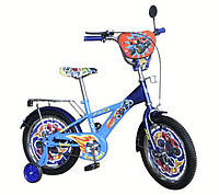 Велосипед детский 2-х колесный 14'' сине-голубой