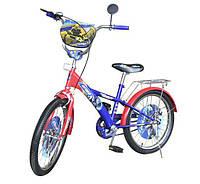 Велосипед детский 2-х колесный 14'' сине-красный