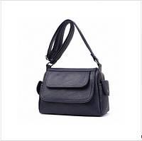 Женская сумка с ручкой через плечо цвет синий, фото 1