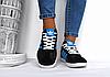 Подростковые женские кроссовки Adidas Gazelle черные реплика, фото 3