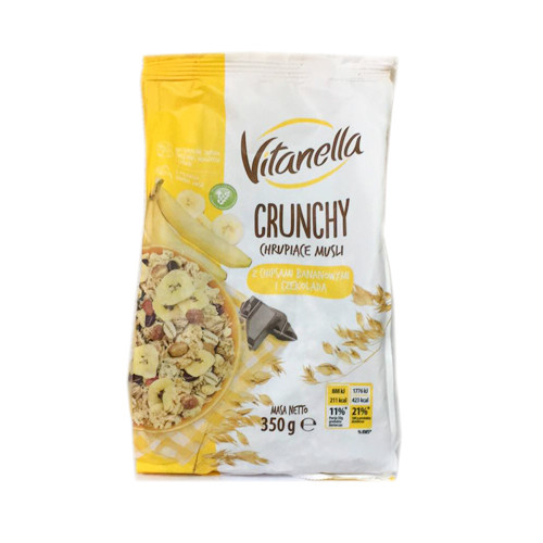 Crunchy Vitanella сухий сніданок (з банановим смаком) 350 гр.