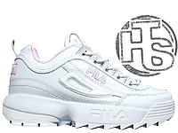 Женские кроссовки Fila Disruptor II 2 Leather White/Pink 39
