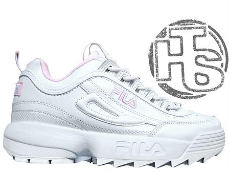 f601c94f25a1 Женские кроссовки Fila Disruptor II 2 Leather White Pink - купить по ...
