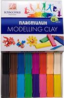 Пластилін Промінь Класика 16 кольорів