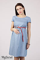 Джинсовое платье для беременных и кормящих CELENA DR-28.014, сердечки на джинсе, фото 1