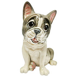 Фигурка-статуэтка коллекционная с керамики, Англия,собачка «Наполеон», h-19 см