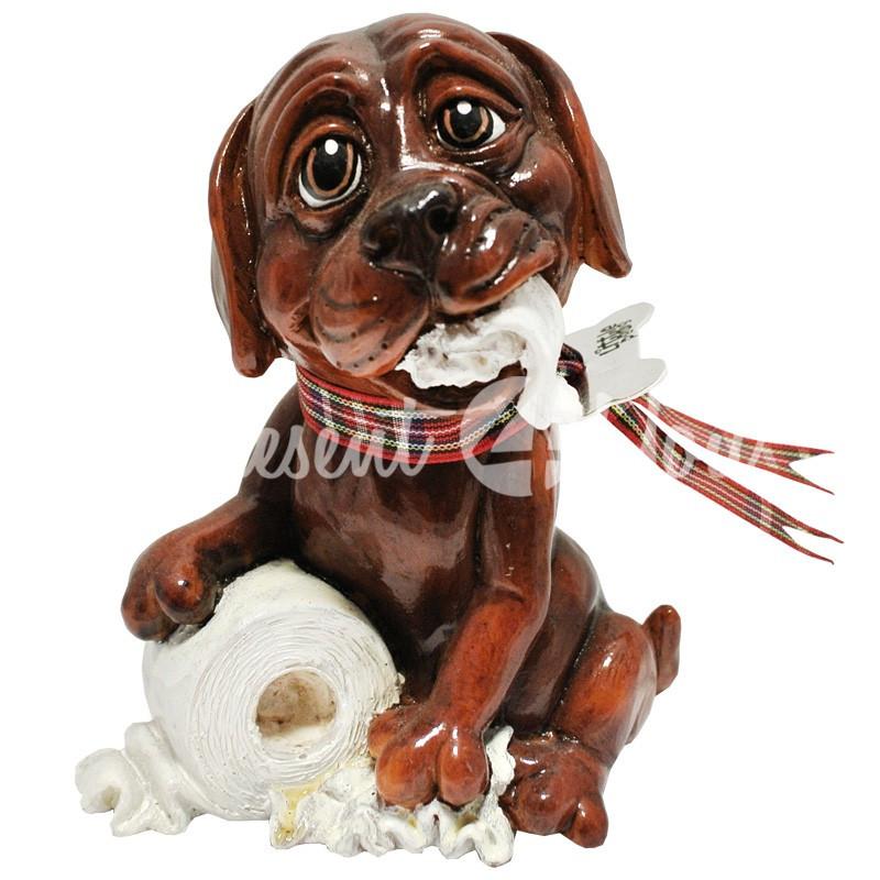 Фигурка-статуэтка коллекционная с керамики, Англия, собачка «Труффи», h-11 см