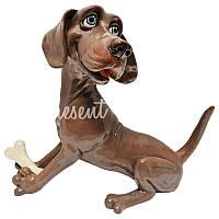 Фигурка-статуэтка собачка «Весли» коллекционная из керамики Англия,  h-19 см