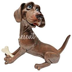 Фигурка-статуэтка коллекционная с керамики, Англия, собачка «Весли» h-19 см