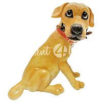Фигурка-статуэтка собачка «Оли» коллекционная из керамики Англия,h-20 см