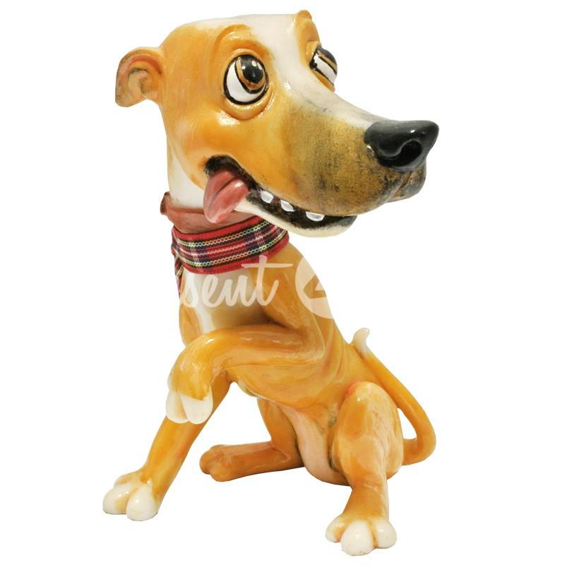 Фигурка-статуэтка коллекционная с керамики, Англия, собачка «Сизли», h-12 см