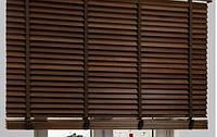 Деревянные жалюзи на пластиковые окна, фото 1