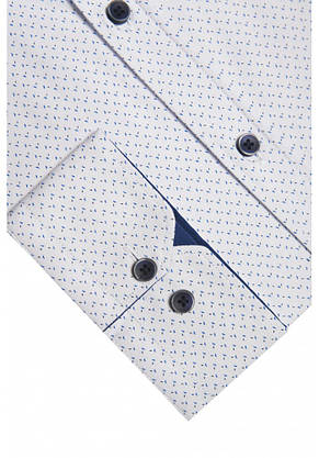 Белая рубашка с синим узором KS 1822-1 разм. 3XL, фото 2