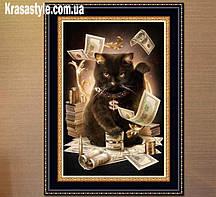 """Алмазная вышивка """"кошачьи деньги"""""""