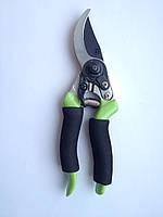 45-203 Секатор 215мм, косой срез диаметр 16мм, тефлон. покр., прорезин. ручки