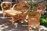 Плетеная мебель из лозы для улицы
