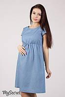 Джинсовое платье для беременных и кормящих CELENA DR-28.013, точечки на джинсе, фото 1