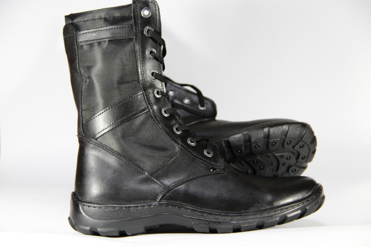Тактические ботинки из натуральной кожи SB ПУ черный корд