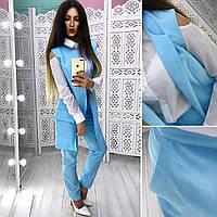 Костюм модный женский жилет и брюки в разных цветах Db822