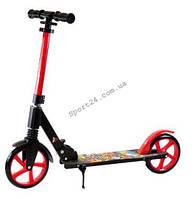 Самокат для підлітків і дорослих Scale Sports, до 100 кг, складаний, Червоний