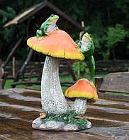 """Садовая фигура """"Жабки на грибочках"""" H-30см, фото 1"""