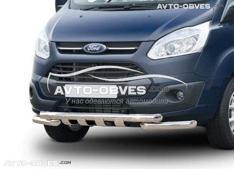 Защита переднего бампера модельная для Форд Торнео Кастом 2013-2020 (под заказ)