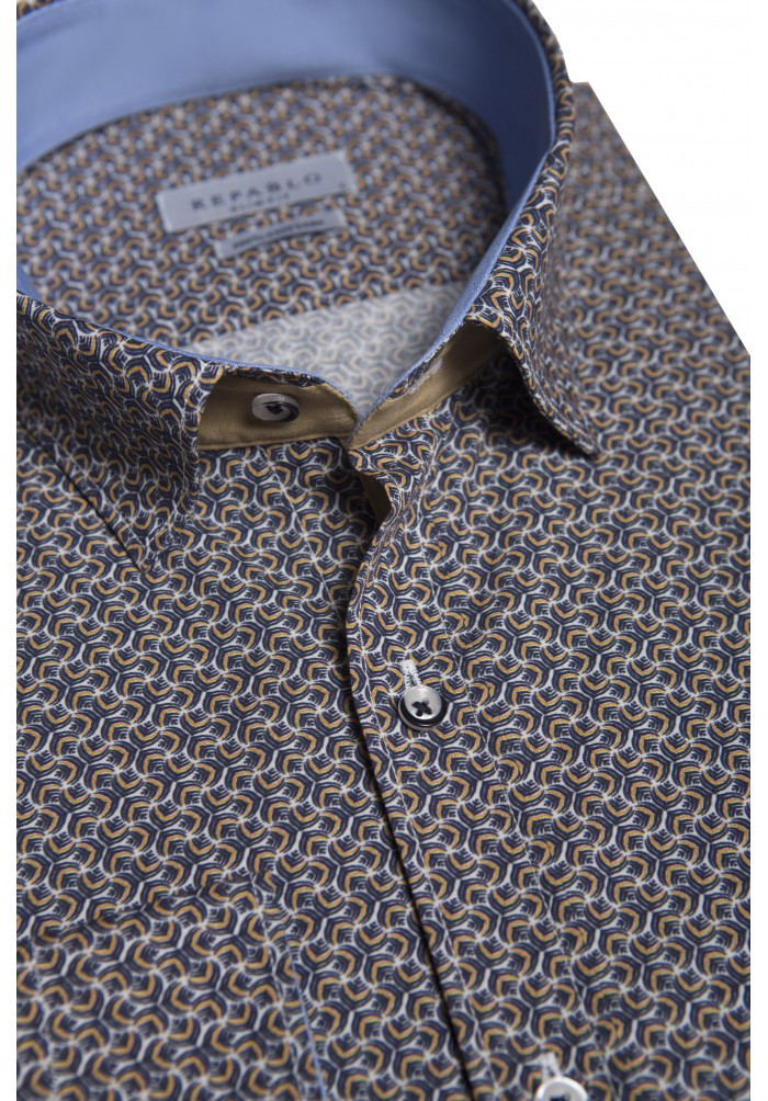 Серо-коричневая рубашка KS 1823-1 разм. L