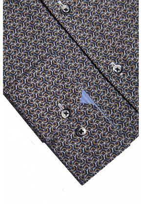 Серо-коричневая рубашка KS 1823-1 разм. L, фото 2