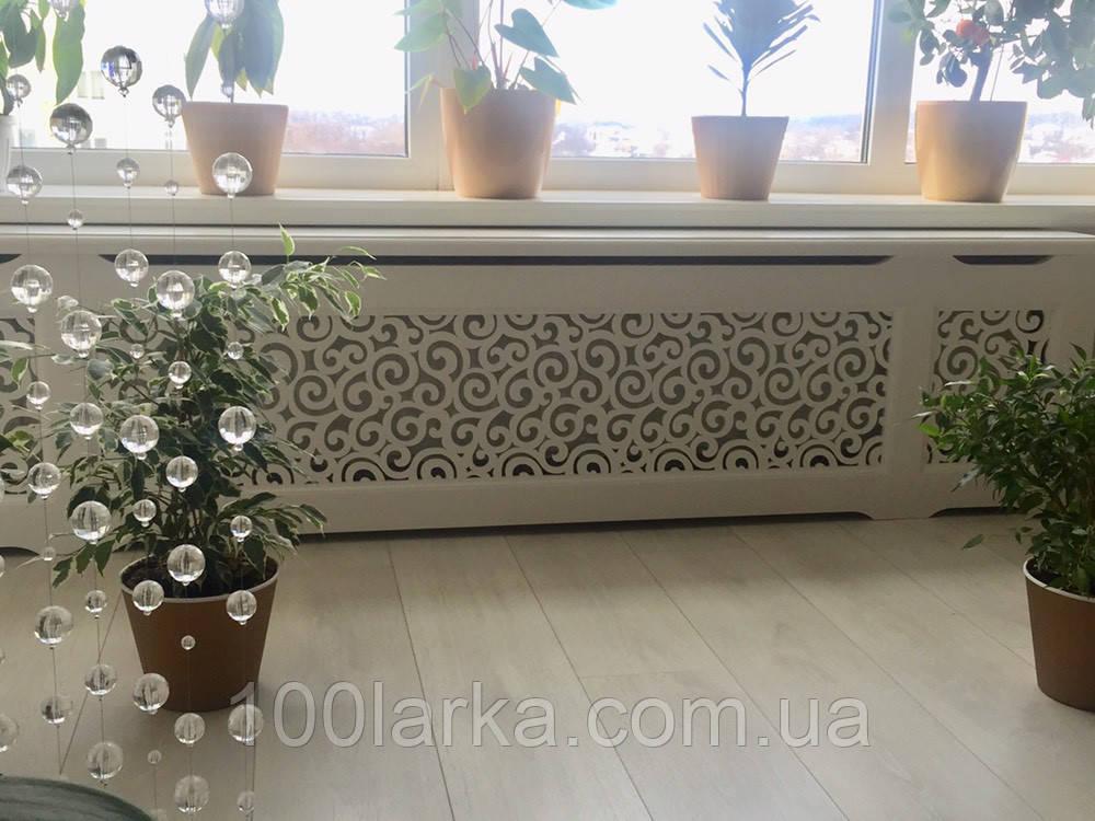 Декоративный экран-решетка на батарею отопления