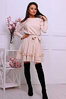 """Романтичное женское платье """"Вивьен"""" (костюмка, длина мини, приталенное, декор рюши) РАЗНЫЕ ЦВЕТА!, фото 1"""