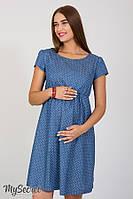 Джинсовое платье для беременных и кормящих DR-28.012, звездочки на джинсе, фото 1
