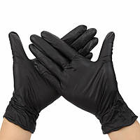 Перчатки нитриловые неопудренные ЧЕРНЫЕ размер L, 1 пара