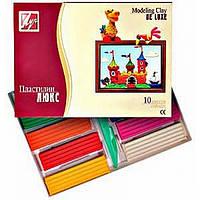 Пластилін Промінь Люкс 10 кольорів
