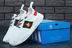 Кроссовки Adidas NMD x Gucci. Живое фото! Топ качество! (Реплика ААА+)