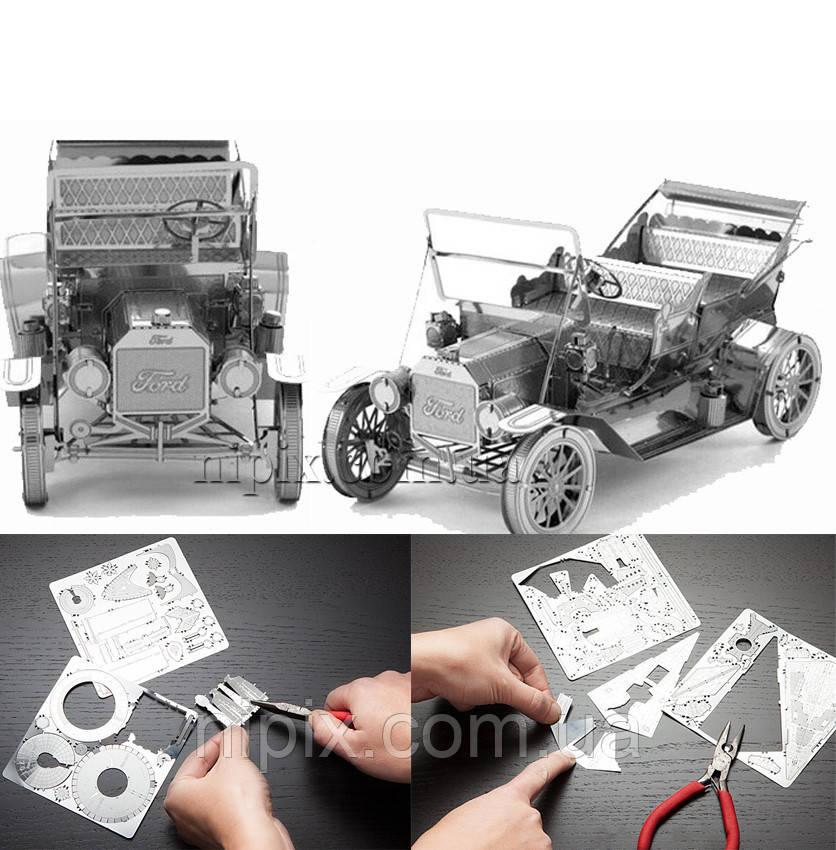 Металлический 3D конструктор ретро Форд