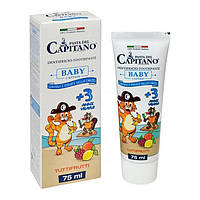 Детская зубная паста del Capitano со вкусом фруктов для детей от 3-х лет 75мл, арт.035203