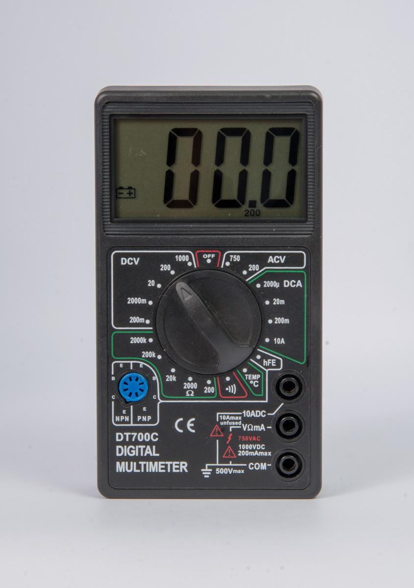 Цифровой мультиметр (DT700C) со звуком + температура